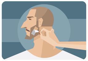 Vetor de depilação de barba
