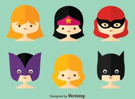 Vetor de Coleção Superwoman Plana