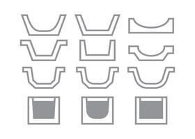 Coleção de ícones de Gutter Icons vetor