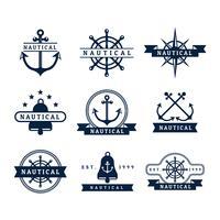 Emblemas vetoriais náuticos gratuitos vetor