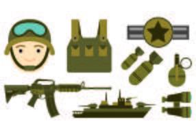 Conjunto de Ícone de Selos da Marinha vetor