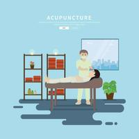 Ilustração gratuita de acupuntura vetor