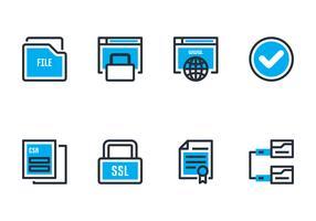 Ícones do certificado SSL vetor