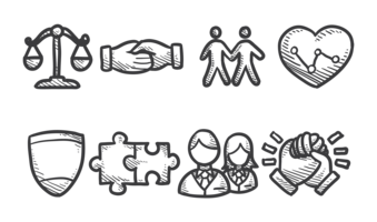 Vetor de ícones de integridade
