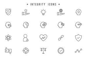 Vetores de integridade grátis