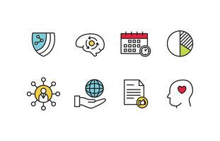 Conjunto de ícones de responsabilidade social vetor