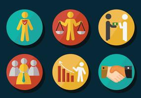 Pacote de vetores de ícones de integridade