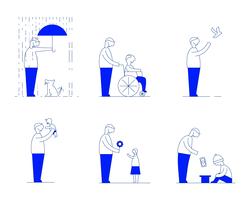 Vetor da ilustração da bondade