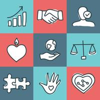 Valores de valores fundamentais vetor