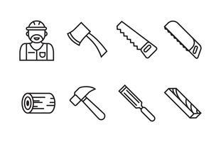 Pacote de ícones de lenhador vetor
