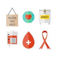 Livre vetores de caridade únicos