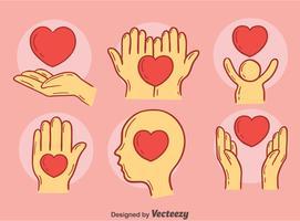 Vector de elemento de bondade desenhado mão