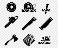 ícones vetoriais de logging vetor