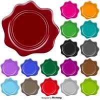 Conjunto De Selo De Cera De Selo Colorido - Vector