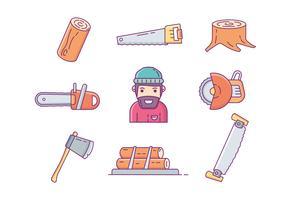 Vetores de ícone de lâminas