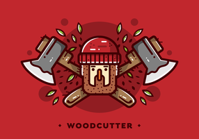 Vetor de crachá de lenhador de lenhador