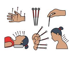 Conjunto de vetores de acupuntura