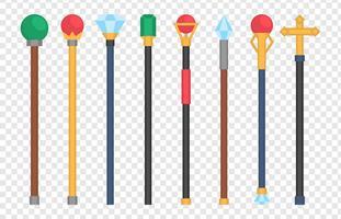 Coleções de sceptre real vetor