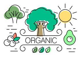 Elementos vetoriais lineares sobre a vida orgânica vetor