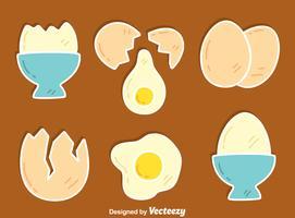 Vetor de coleção de ovos quebrados