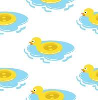 padrão sem emenda de anel de flutuação de pato