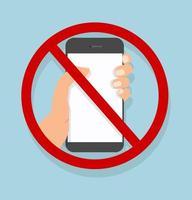 mão segurando smartphone sem celular vetor
