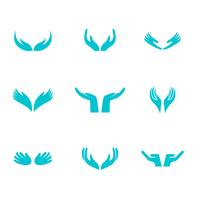 Vetor do logotipo das mãos curativas