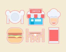 Vetores Outstanding Canteen gratuitos