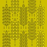 Ícones de orelhas de trigo vetor