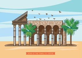 As ruínas do Templo de Júpiter vetor