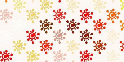 textura vermelha e amarela clara com símbolos de doença.