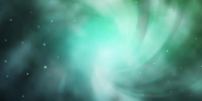 modelo verde claro com estrelas de néon.