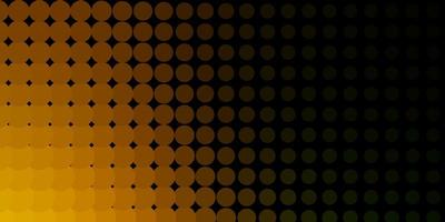 fundo amarelo escuro com círculos.