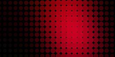 padrão de vetor vermelho escuro com círculos.