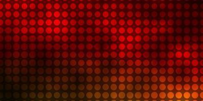 fundo vermelho escuro com círculos.