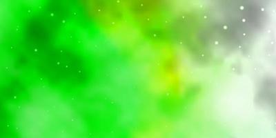 textura verde clara com belas estrelas.