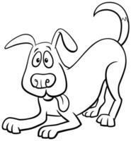 desenho animado cão personagem livro para colorir