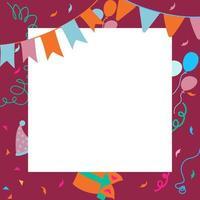 feliz aniversário fundo de elemento de festa vetor