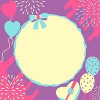 elementos de cartão de aniversário e festa