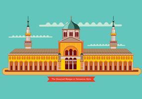 A Mesquita Ummayad em Damasco, Síria vetor