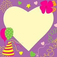 cartão de aniversário e festa com amor