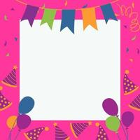 elementos de cartão de aniversário e festa vetor