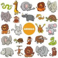 grande conjunto de personagens de animais selvagens africanos vetor