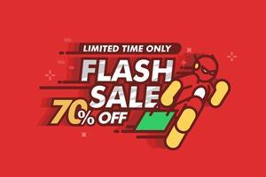 ilustração do flash do preço vetor