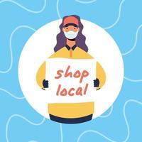 apoiar a composição da campanha de negócios locais vetor
