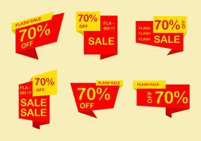 Vetores de Flash de preço vermelho plano
