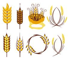 Vetor de Símbolo da Agricultura de Oros de Trigo Gratuito