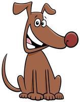 desenho animado sentado cão animal de estimação personagem