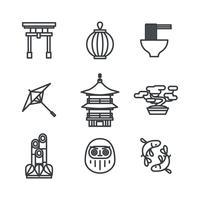 Material japonês esboçado