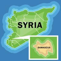 Vector do Mapa da Síria